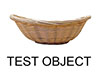 Test 3D Wicker Basket Object