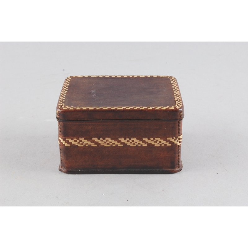 Leather Covered Tin
