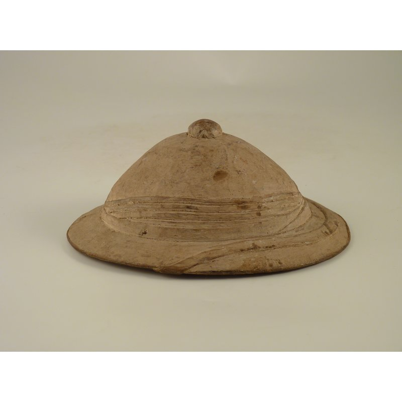 Carving of Colonial Figure in Pith Helmet