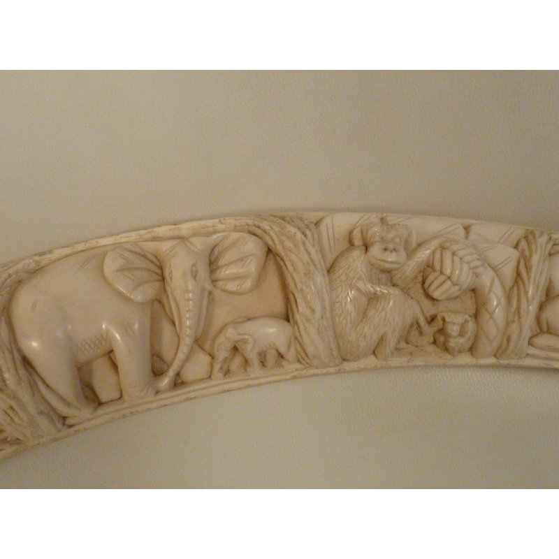 Carved Ivory Tusk