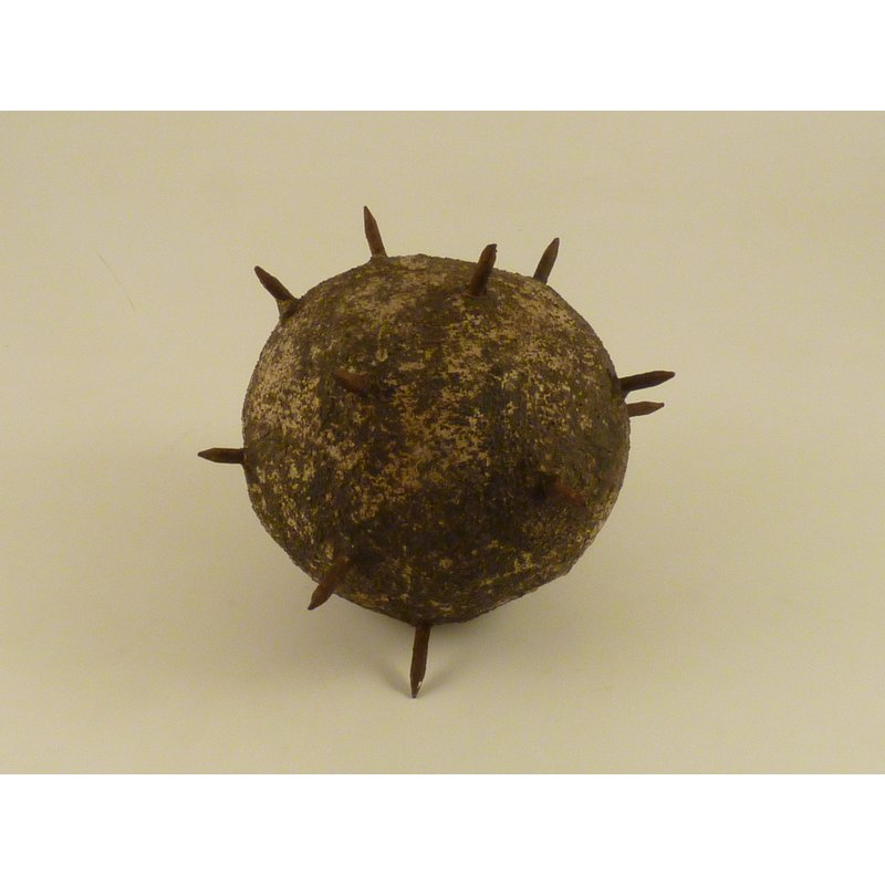 Cement Ball with Iron Nails